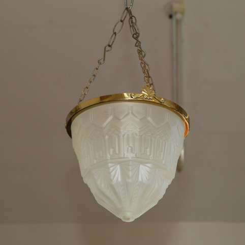 Opaque glass ceiling light