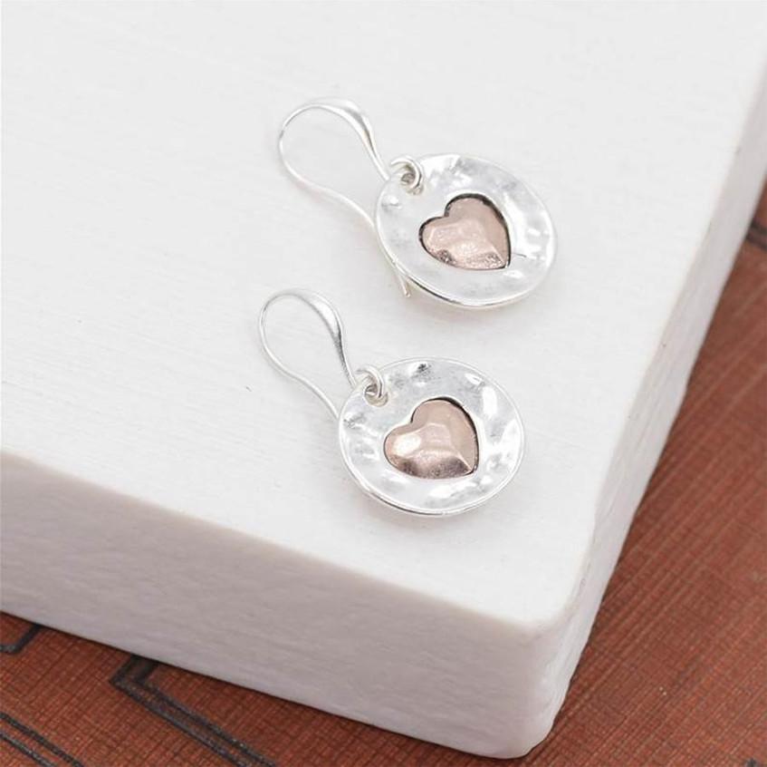 Love heart silver earrings