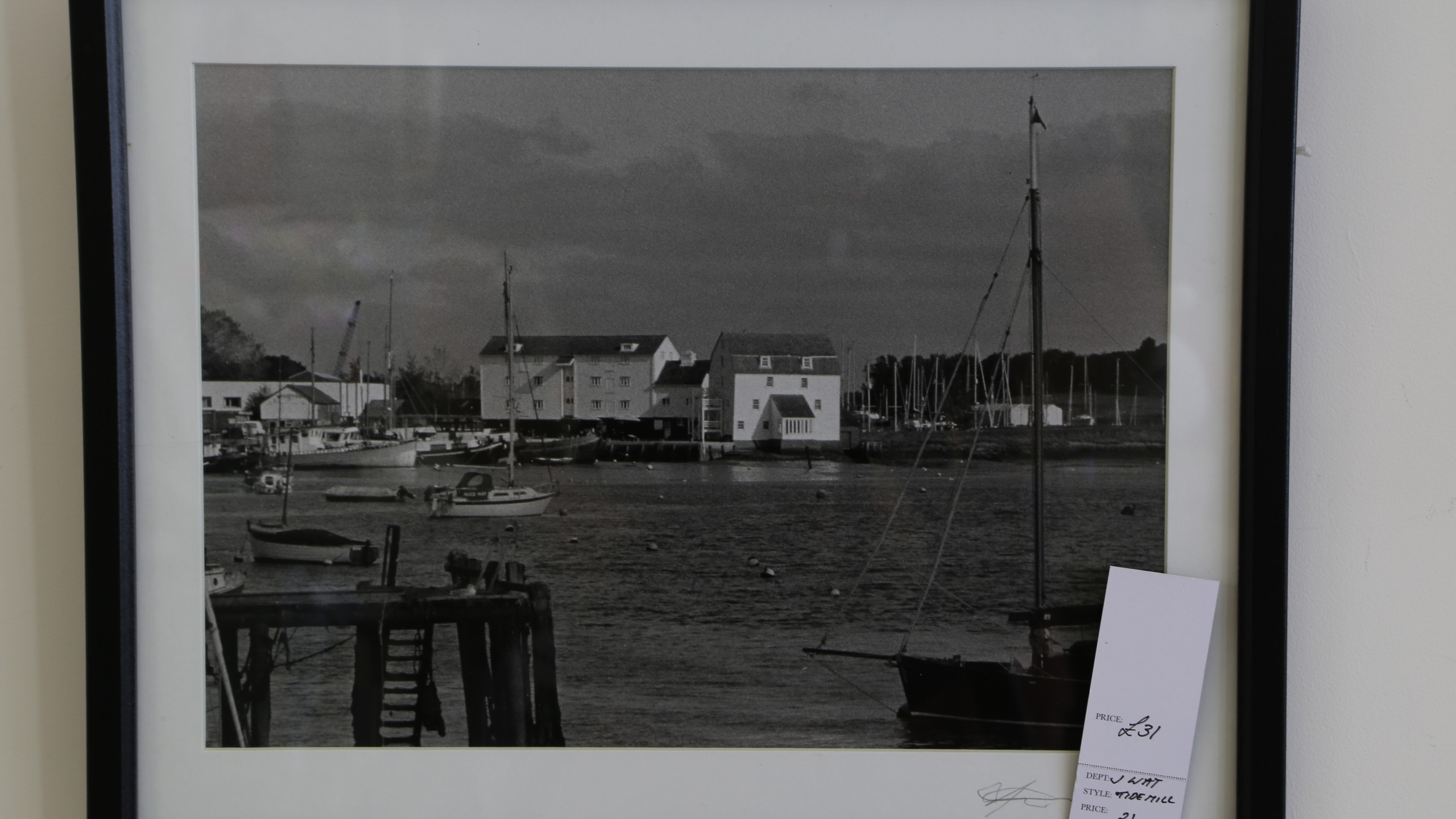 Black and white photo - Woodbridge