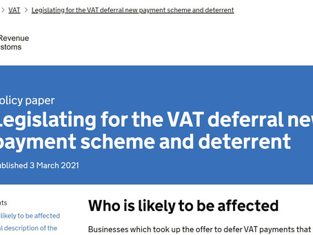 Penalty rates for deferred VAT scheme set at 5%