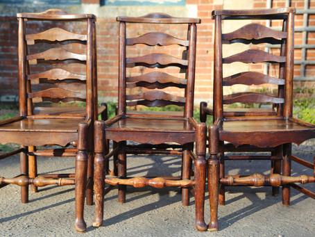 Set of Six Ladderback Chairs - £390