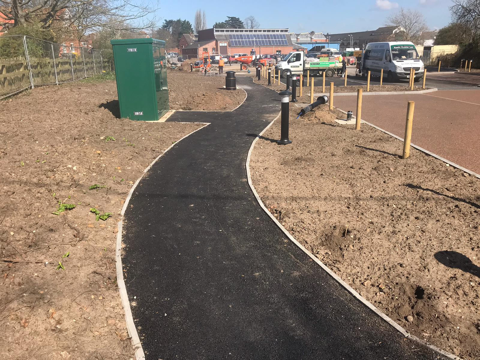 Resin driveway prep at Woodbridge