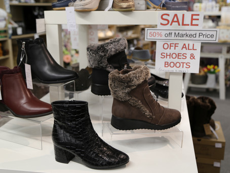 Boots & Shoe Sale at Inspirations