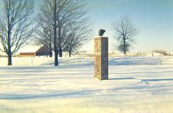 Original James Dean monument, c.1958