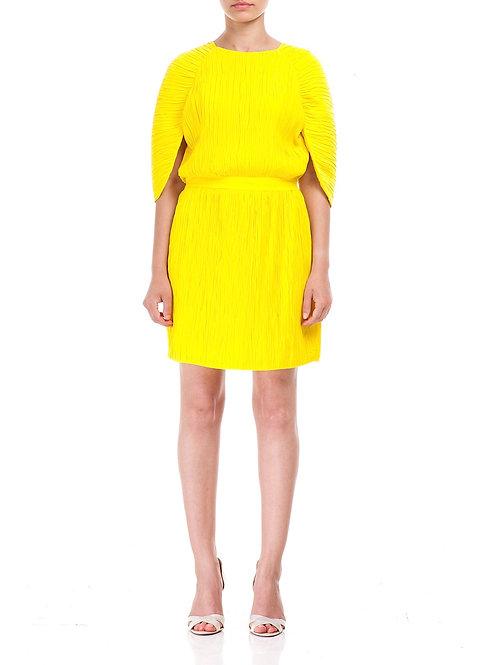 Yarasa kol, kraşlı krep elbise