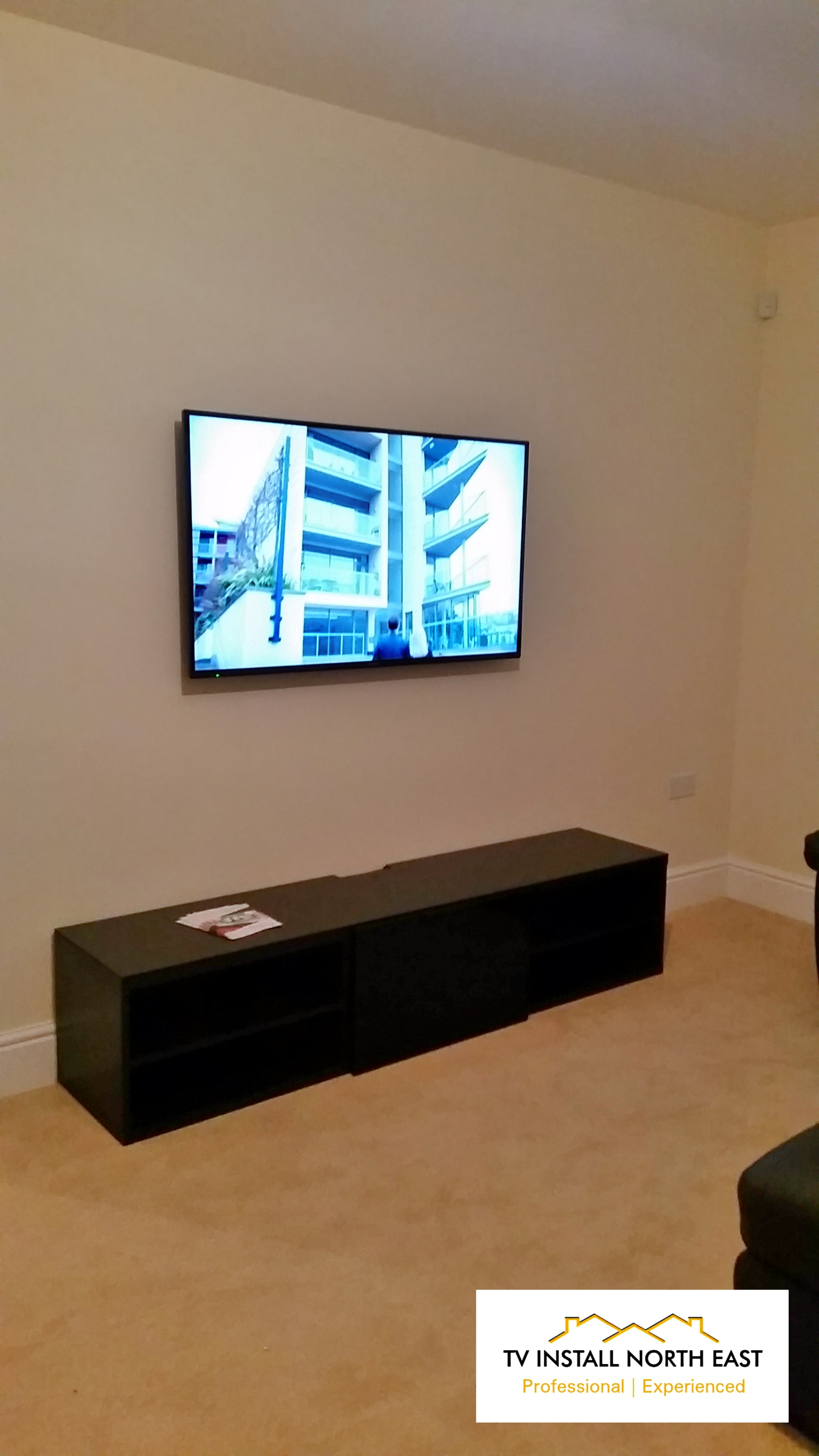 "Panasonic 55"" LED TV on Plasterboard"