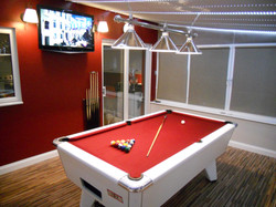 """Samsung 40"""" on wall in pool room"""