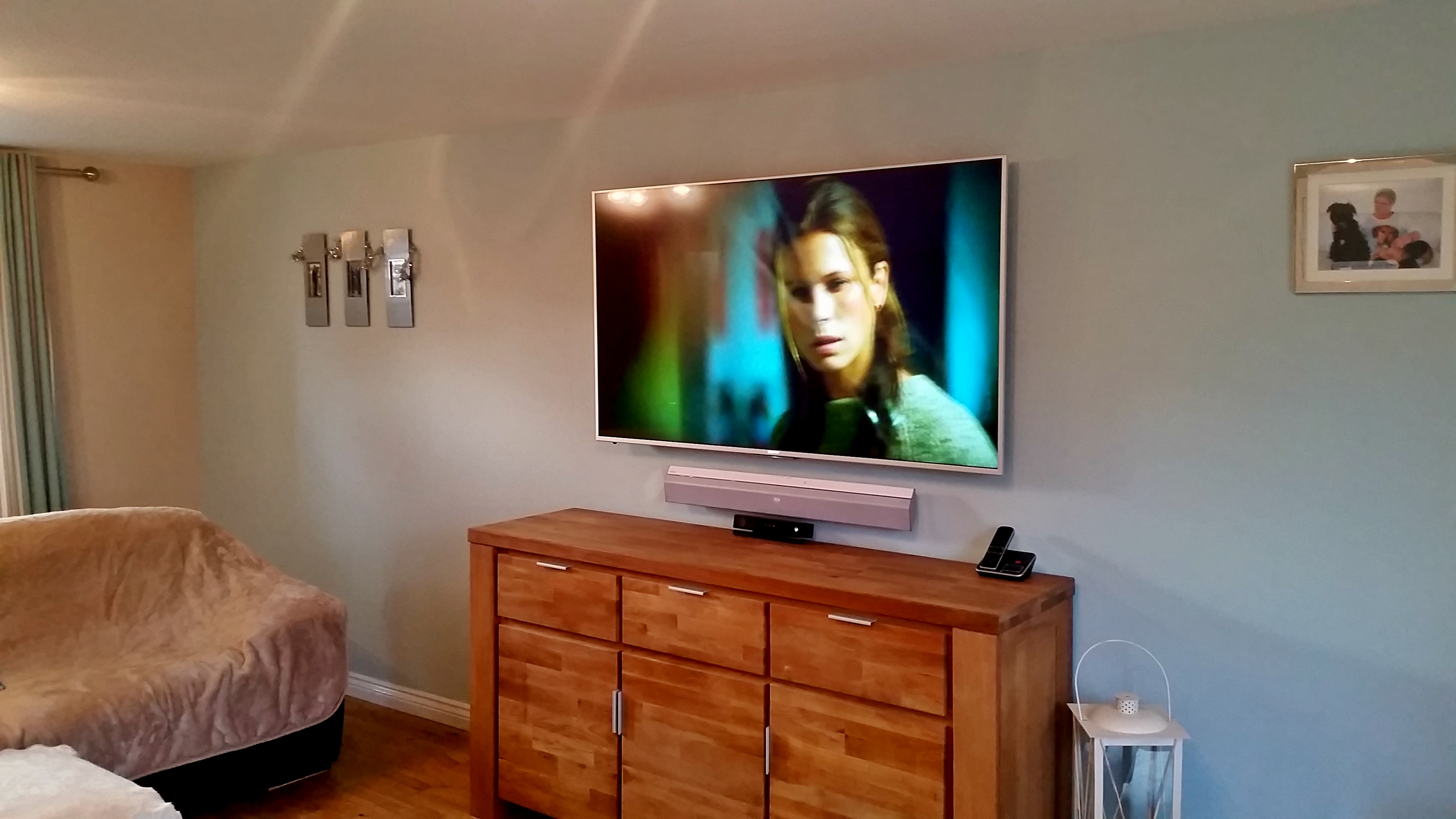 "Sony 65"" LED TV with soundbar"