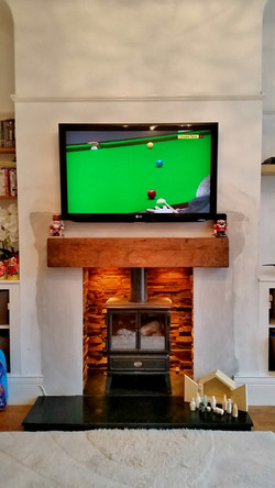 Plasma TV above wood burner