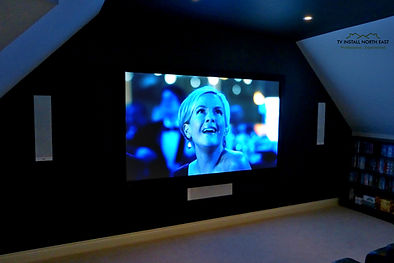 bespoke home cinema installation optoma big screen tv install north east