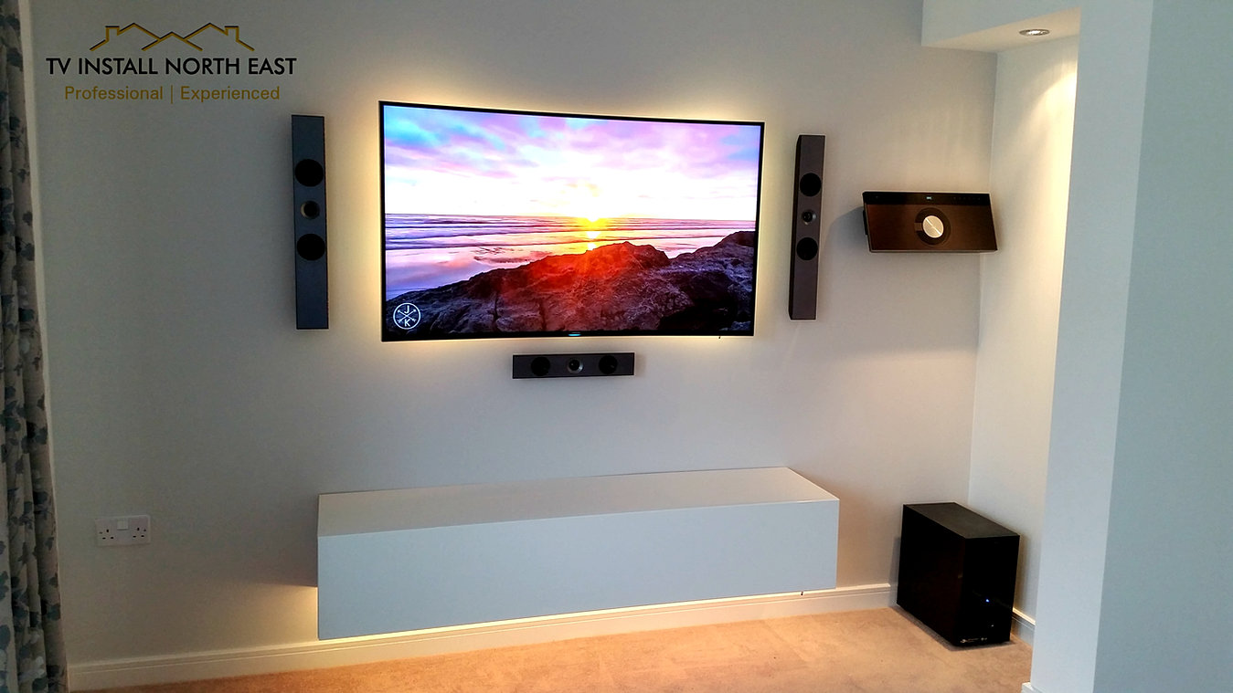 Uncategorized Led Tv In Wall tv install north east samsung 55 curved led tv