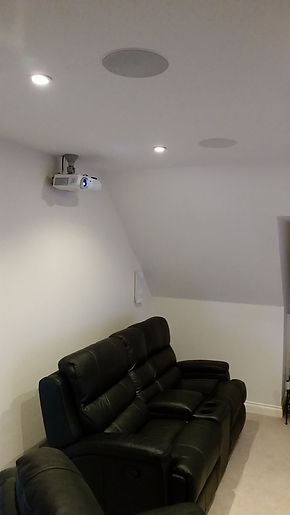 KEF ceiling speakers TV Install North East Home Cinema installation