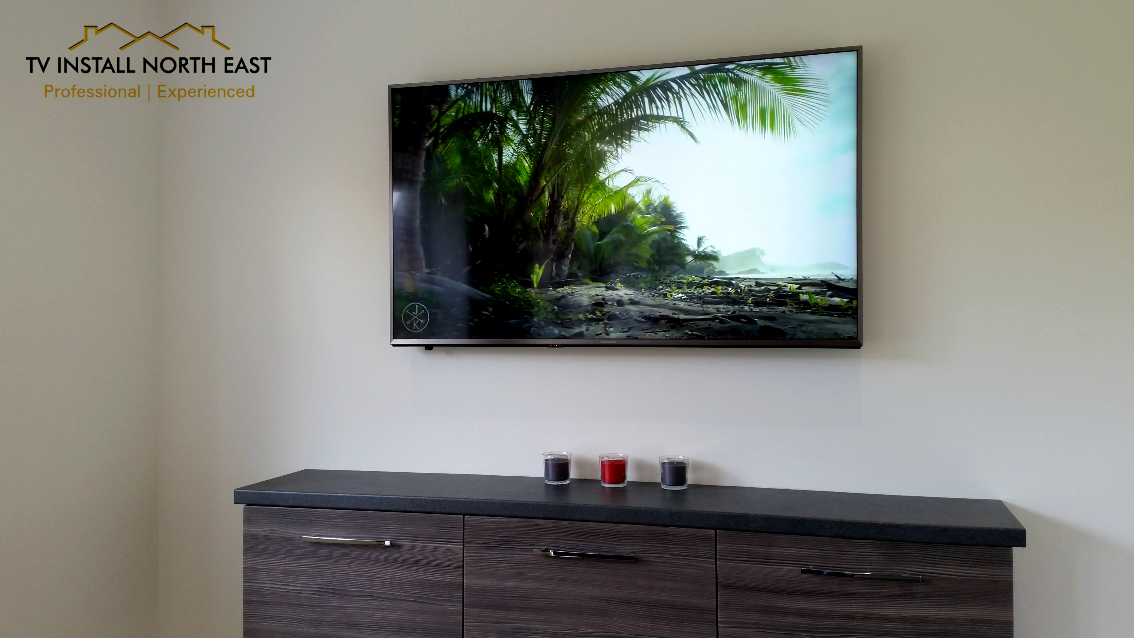 """Panasonic 55"""" LED TV on Plasterboard"""