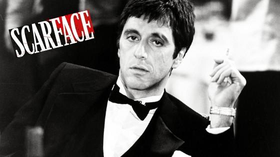 Al Pacino, alias Tony Montana dans Scarface.
