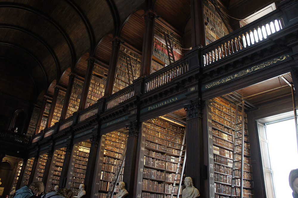 Mezzanine de la Old library du Trinity College.