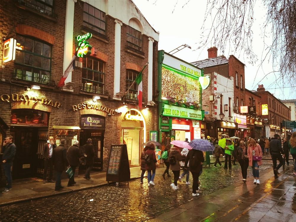 Rues de Dublin en Irlande