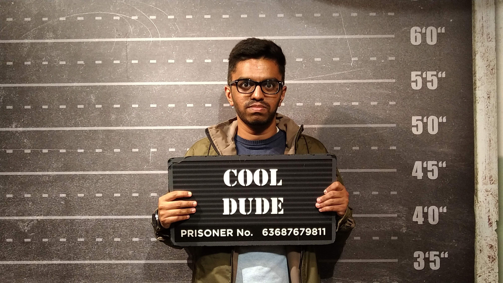That time I got arrested for being a cool dude.