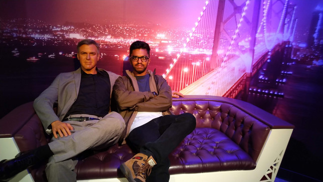 One with George Clooney in Madame Tussaud's Wax Museum.