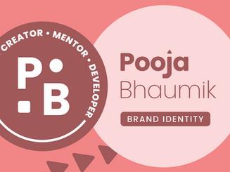 Pooja Bhaumik • Brand Identity for Creator, Mentor & Developer