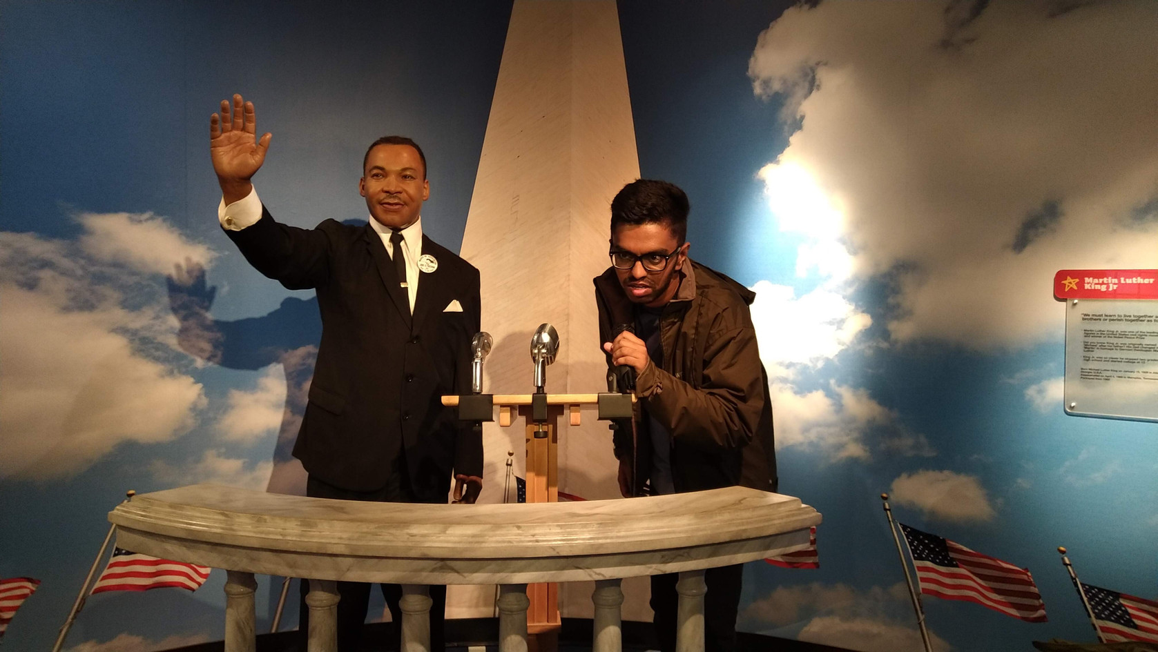 One with Martin Luther King Jr. at Madame Tussaud's Wax Museum