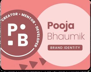 Pooja Bhaumik • Brand Identity for Developer & Mentor