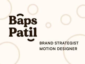 Baps Patil •My Brand Identity!