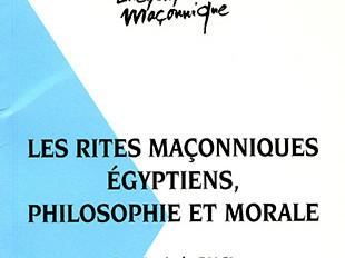 """Postface du livre """"Les rites maçonniques égyptiens"""""""