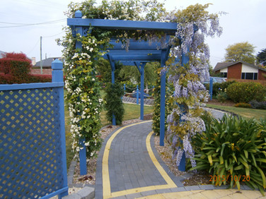 Vol memorial garden pathway.JPG