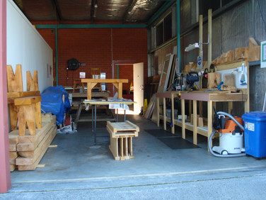 A photo of the rear of the workshop