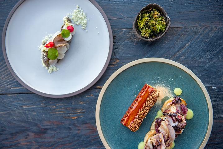 Pluvio restaurant + rooms in Ucluelet serving modern canadian seasonal food