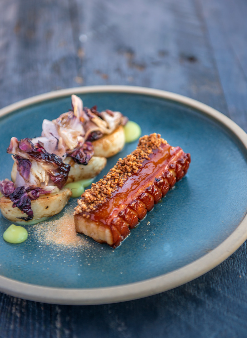 Pluvio restaurant and rooms, pork belly