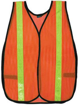 Orange. Non ANSI/ISEA Reflective vest.