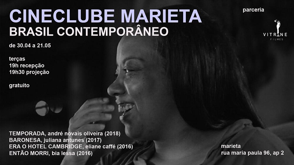 cartaz cineclube marieta brasil contemporâneo