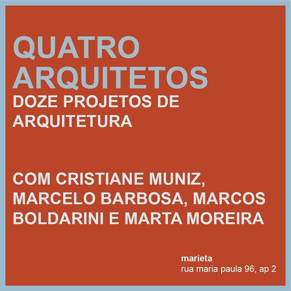 curso quatro arquitetos marieta cristiane muniz marcelo barbosa marcos boldarini e marta moreira abilio guerra giovanni pirelli 2019
