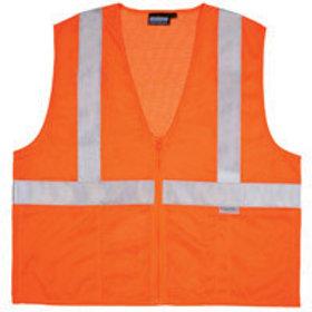 $14 and up. Zipper Front, Class 2 Vest Orange