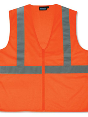 $7.50ea. Zipper Front Econo Class 2 Vest Orange