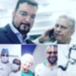 Dr Eric Grossi e dr Renato Campolina equipe do Hospital Evangelico Neurocirurgia