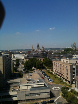 Catedral gótica de Rouen Vista do 6eme étage Neurochirurgie