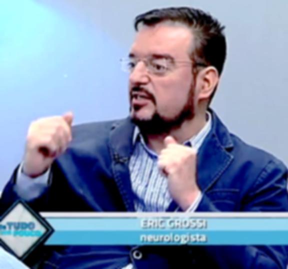 Dr Eric Grossi Neurocirugião em B H dando entrevist no Canal Super