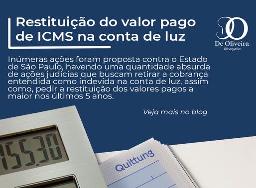 Restituição do valor pago de ICMS na conta de luz