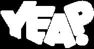 Logotipo da Agência Yeap! com a escrita YEAP na cor branca.