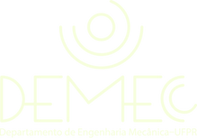 Logotipo do Departamento de Engenharia Mecânica da UFPR, com a escrita: DEMEC.