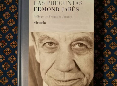 El libro de las preguntas. Edmond Jabès.