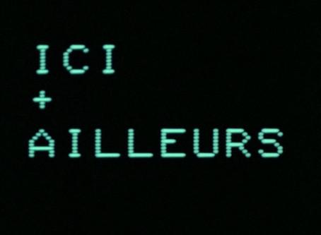 """Silencio y visión en """"Ici et Ailleurs"""" de Jean Luc Godard."""