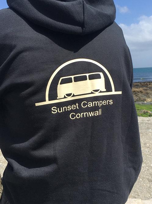 Sunset Camper Hoodie Beige Print Unisex