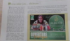 Article LES JUS D'ELO St Laurent Blangy
