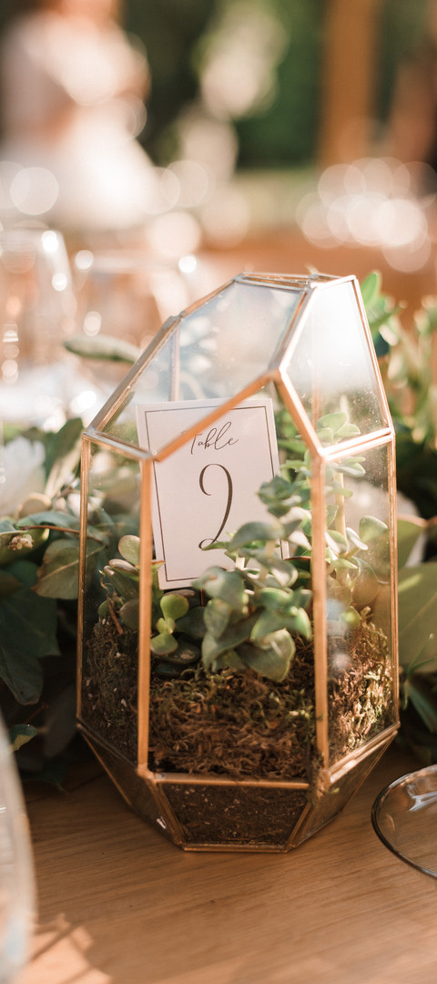 Unique modern wedding table numbers idea