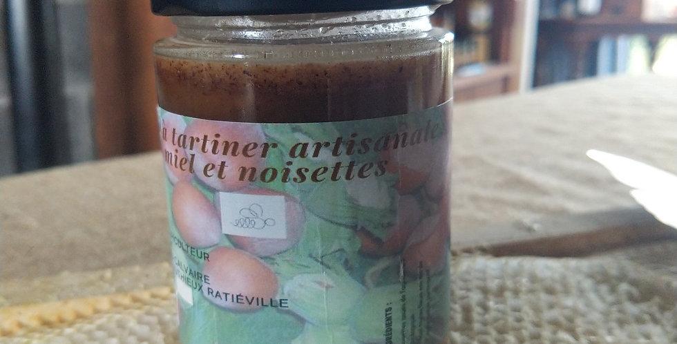 Pâte à tartiner artisanale miel/noisettes 250 g