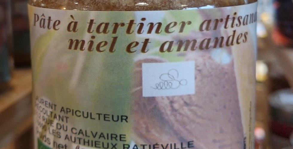 Pâte à tartiner artisanale miel/amandes 250g