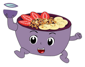Purple Bowl Woman, cousin of Kool-Aid Man // The Purple Bowl